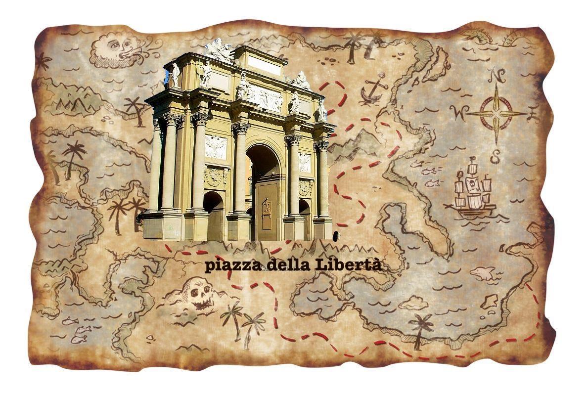 Firenze: il nuovo gioco proposto dal comune è la Caccia al Tesoro. Vinci la Libertà (piazza)