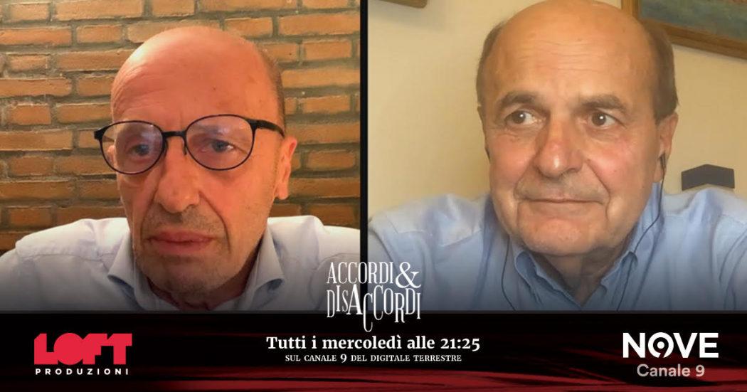 """Forza Nuova, Bersani ad Accordi&Disaccordi (Nove): """"Prima si scioglie, meglio è"""". Sallusti: """"Sì, ma perché non l'avete fatto voi prima?"""""""